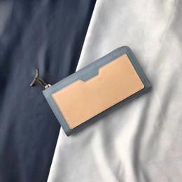 Stoff brieftaschen online-Neue Art und Weiseentwerfer-Art und Weisemann-Geldbörsenkosmos-Reißverschluss-lange Mappe graue Segeltuchgewebe-Ledergeldbörse Geldbeutel der Geldtasche der Qualität M63237