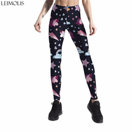 star galaxy s Promo Codes - Leimolis 3D printed galaxy stars unicorn harajuku gothic sexy plus size high waist push up fitness workout leggings women pants