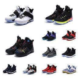a7b0b9dc0b ... shopping cheap woman lebron 14 ivx basketball shoes bhm christmas black  team red grey blue rio