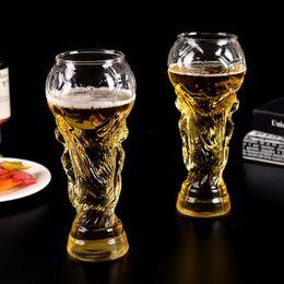 Oso calentado online-15 oz copa de oso 2018 Copa del mundo de fútbol ventiladores copa de regalo taza resistente al calor campeonato trofeo 450 ml bar oso taza