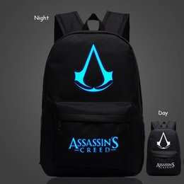 Wholesale teenage male fashion - Wholesale- 2016 Fashion Brand Women Male Anime Schoolbag For Teenage Girls Boy Popular Computer Laptop Backpack Female Men Luminous Bagpack