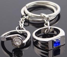 Weeding regalos anillos de pareja de cristal colgante llavero Favors Lovers llavero aleación llaveros accesorios de joyería de moda para hombre mujer desde fabricantes