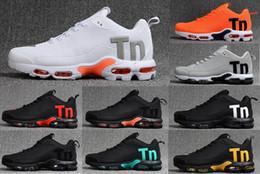2019 zapatillas multicolor AIR MAX KPU Mercurial Plus Tn 2018 cojín de aire para hombre Chaussures SE Negro Blanco Naranja Desinger Zapatillas para correr Hombre Zapatillas deportivas Sneakers Talla 40-46