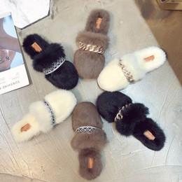 Canada ERRFC Hiver Nouveau Luxe Femmes Casual Pantoufles Designer Sexy Dames Diapositives Pour Femme Plat Fourrure Pantoufles Pour Filles Sapato feminino supplier winter slippers for girls Offre