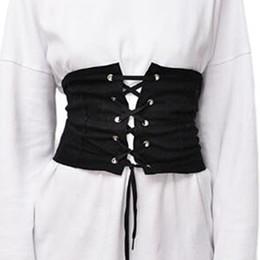Wholesale Lace Up Waist Cinchers - Hot Sale Good Quality Black Faux Suede Lace Up Women's Corset Waist Belt Shape-Making Midriff-Cinchers 2017 New Plus Size S-XL
