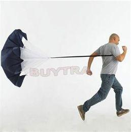 Geschwindigkeits-Widerstand, der schwarzen Fallschirm-laufenden Rutschen-Fußball-Fußball-Trainings-Fallschirm-Regenschirm klettert von Fabrikanten