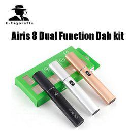 Wholesale Slim Batteries - 100% Original Airistech Airis 8 Dual Function Dab kit Dip Wax Vape Pen Vaporizer 400mah Battery Capacity Slim and Portable DHL free shipping