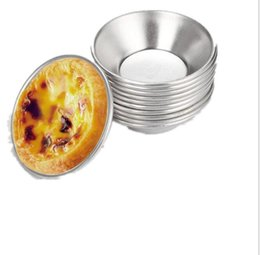 revestimiento de aluminio Rebajas 10 UNIDS Reutilizable Tarta de Huevo de Aluminio Cupcake Cake Cookie Forrado Molde Del Molde de Lata Herramienta de La Hornada de la Torta de Aleación De Aluminio molde