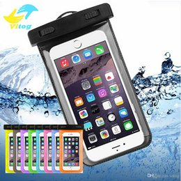 Wholesale smart phone pocket - Waterproof Case bag PVC Protective Universal FOR IPhone Pouch With Compass Bags For Diving Swimming For Smart Phone Up to 6 inch