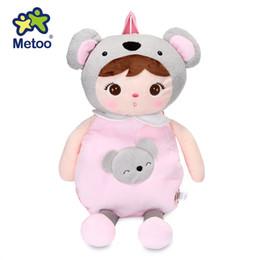 Wholesale Backpack For Dolls - Metoo Dolls Sweet Cute Anjela Plush Cartoon Doll Bag Koala Animal Backpack for Kids Girls Birthday   Christmas Keppel Toys Gift