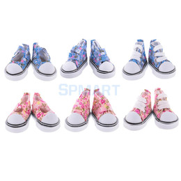 Wholesale Plastic Mini Shoes - 5cm Mini Toy Lace-up Canvas Shoes 1 6 BJD Doll Shoes Fashion Causal Sneaker Buckle Doll Boots Dolls Accessories