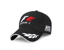 Wholesale Motorcycle Baseball Caps - 2018 formula 1 Baseball Caps for men Black F1 Embroidery Hats Car Motorcycle Racing MOTO Caps Outdoor Sports Sun Hat gorro