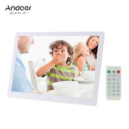 "Wholesale Machine Photos - Andoer 15.6"" LED Digital Photo Frame 1280*800 Advertising Machine Calender Alarm Clock MP3 MP4 Movie Player with Remote Control"