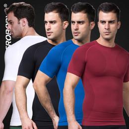 Wholesale Underwear Chest - New Seamless T shirt Men Slimming Short Sleeve Underwear Body Shaper Weight Loss Undershirt for Men Fitness Chest Abdomen Shapewear