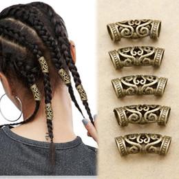 2019 acessórios indianos do cabelo do casamento 5x Nórdico Viking Redemoinho Barba Talão Rasta Dreadlocks Braid Head Hair Dress Pin Clipe Acessórios de Presente de Natal Headband Cocar