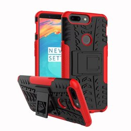Wholesale Hot Armor - Hot Sale For Oneplus 5T Phone Case 2in1 Dual Layer Kickstand Heavy Duty Armor Shockproof Hybrid Silicone Cover Case For OnePlus 5T