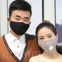 Wholesale Valve Springs - Free shipping Washable Cotton PM2.5 Anti Haze Mask Breath valve anti-dust mouth mask Activated carbon filter respirator Mouth-muffle mask