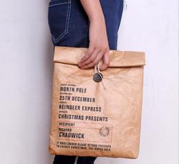 mittagessen taschen für männer Rabatt Papier Mittagessen Taschen Wiederverwendbare Lebensmittel Aufbewahrungsbox Sack Durable Isolierte Tragbare Kraft Braun Papiertüte Picknick für Männer Frauen