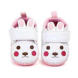 weiche gummi-bodenschuhe Rabatt Reizende 2018 PU-Leder neugeborenes Baby Mädchen Jungen Schuhe Cartoon Säugling Kleinkind Mokassins weichen Gummiboden Schuhe Boot