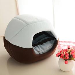 Wholesale Dog Cotton Nest - 2 Uses Foldable Soft Warm Cat Dog Bed House Pet Cave Puppy Sleeping Mat Pad Nest Pet Beds Dog Blanket Animal Sleep Cat Bed House