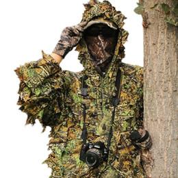 Chasse Tactical Gear Hommes Sniper Tree Camo Camouflage Costume Feuillage Forest Vêtements Veste avec Pantalon ? partir de fabricateur