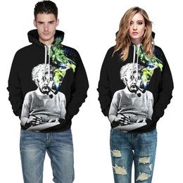 sudaderas con capucha de fumar Rebajas Moda Einstein Hoodies Hombres / Mujeres Sudaderas 3d Print Einstein Smoking Mr .1991inc Thin Unisex Chándales con capucha Tops Jerseys Venta caliente