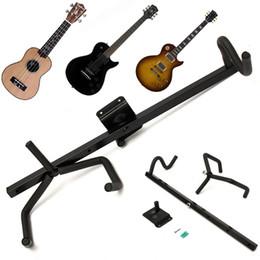Wholesale Guitar Wall Holders - 60cm Iron+EVA Black Electric Guitar Wall Hanger Horizontal Acoustic Guitar Holder Bass Stand Rack Hook Guitar Accessories