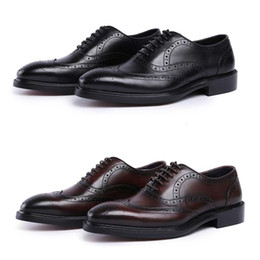 Chaussure bateau chaussure en Ligne-Cuir Hommes Oxford Chaussures À Lacets Casual Business Homme Pointu Chaussures Marque Hommes De Mariage Hommes Robe Bateau Chaussures