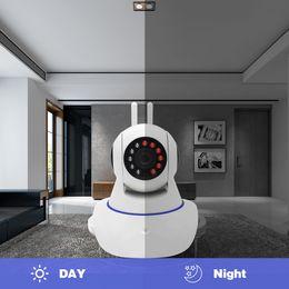 Antena doble cámara cámara IP inalámbrica WIFI Megapixel 720p HD interior inalámbrica CCTV seguridad digital Cámara IP + 32G TF tarjeta de memoria desde fabricantes