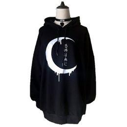 Rosetic Goth Kadınlar Kazak Siyah Hoodies Punk Uzun Kollu Hoodies Kadın Kırpma Üst Hoodie BF Tarzı Ceket Koyu Kaya Ceketler nereden