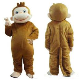 Macaco vestido on-line-2018 venda quente curioso George Monkey traje da mascote fantasia festa de aniversário vestido de carnaval Halloween Costume