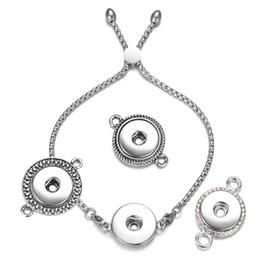 2019 edelstahl-verschlussarmbänder Vocheng Ginger Snap Jewelry Verstellbares Edelstahlarmband für 5 verschiedene Modelle 18mm Ingwer Snap Charms NN-652 günstig edelstahl-verschlussarmbänder