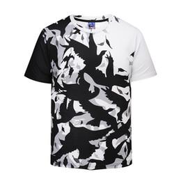 Wholesale Birds Tshirt - Summer 3D Printed T Shirt Men's Short Sleeve Tshirt Creative Shadow Birds T-Shirt M-3XL plus size tops & tees BL-403