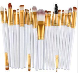 Wholesale 22 makeup brush set - MAANGE makeup brushes sets 20pcs cosmetics brush Professional 22 color Eyeshadow Powder Foundation Face Beauty Blusher Make up free DHL