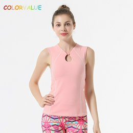a3f1874e41910 Colorvalue Retro Styles Yoga Vest Top Women Slim Fit Solid Nylon Fitness  Dance Vest Quick Dry Removable Pads Sport Tank Tops
