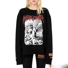 Wholesale Skeleton Hoodie Women - Heron Preston Metal Sweatshirt Women Couples Hip Hop Hoodies Skeleton Printed Black Skateboards Sweater Tops Best Quality