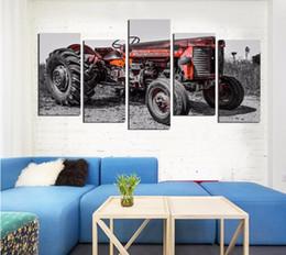 auto leinwand bilder Rabatt Moderne Landschaft Nostalgie Auto Leinwand Malerei Kunstdruck Poster Bild Wand Home Decoration FA628