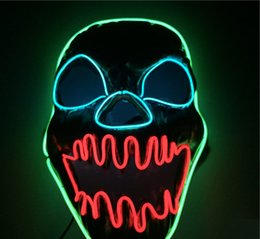 2020 Máscaras LED Halloween Slit Boca Santo Light Up incandescência da máscara Máscaras Cosplay Partido VOX Customes de