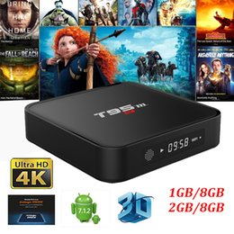 Wholesale Facebook Video Youtube - T95M Android 7.1.2 Tv Box Amlogic S905W Quad Core 1GB 8GB 2GB 8GB 4K Video Streaming Media Player