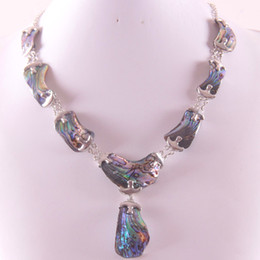 новое ожерелье из зеландии Скидка whole saleNatural New Zealand Abalone Shell zinc alloy  Necklace Free Shipping E839