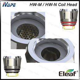 Ijust coils en Ligne-Eleaf HW-M tête 0.15ohm Eleaf HW-N tête 0.2ohm Reimagined Net et bobines de remplacement multihole pour iJust 3 Ello Duro 100% Original