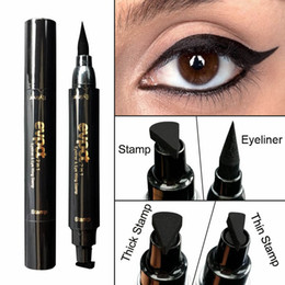 Wholesale Eyeliner Pencil Sets - Seal Liquid Eyeliner Pencil Maquiagem Quick Dry Waterproof Wing Eye Liner Stamp Eye Pencil Beauty Makeup Tools & Set