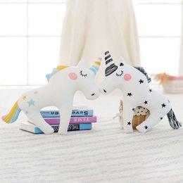 Wholesale Princess Kids Beds - Unicorn Baby sleeping pillow cushion Kids bedding pillow decorate toy Princess Bedroom decoration Newborn Photograph props D3