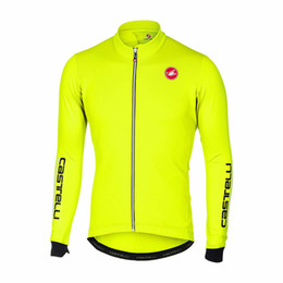 Wholesale Women S Bikes - 2018 man c-astelli bicicleta keep warm bike cycling jersey winter Ropa Ciclismo MTB 9d cycling tops free shipping custom Outdoor sportswear