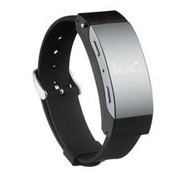 2019 pulsera removible Hot K2 Bluetooth Smart Wristband Fitness Tracker Pulsera Recordar llamada extraíble Smartwatch auricular para Android IOS Teléfono pulsera removible baratos