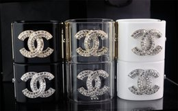 Бриллиантовый браслет широкий онлайн-Цена по прейскуранту завода-изготовителя высокое качество дизайн бренда мода Жемчужина Алмаз манжеты широкий браслет ясно Звезда Кристалл панк ретро браслет с коробкой