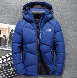 Top Quality Winter men Down Hoodies NORTH Jackets Camping Windproof Ski  Warm Down Coat Outdoor Casual Hooded Sportswear FACE COAT 3067 487f9d6dd