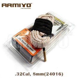 Wholesale 8mm Bearings - Armiyo Bore Snake Hoppe's 9 Boresnake 8mm .32 Cal Gun Barrel Cleaner 24016 Hunting Shooting Cleaning Accessories