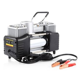 Wholesale 12v Valve - Air Compressor Inflatable carzkool Portable 12V 100PSI Air Compressor Inflatable Pump Two Inflator Nozzles and One Needle Valve