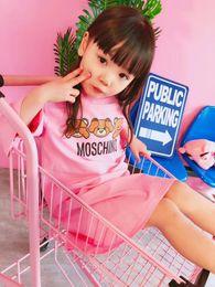 Disfraces para animales online-Vestido de las muchachas Unicornio 2018 Vestido de princesa del vestido de las muchachas del verano Vestido de las muchachas Disfraces Animales Algodón A rayas Vestidos Ropa para niños
